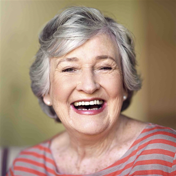 Smiling middle aged woman